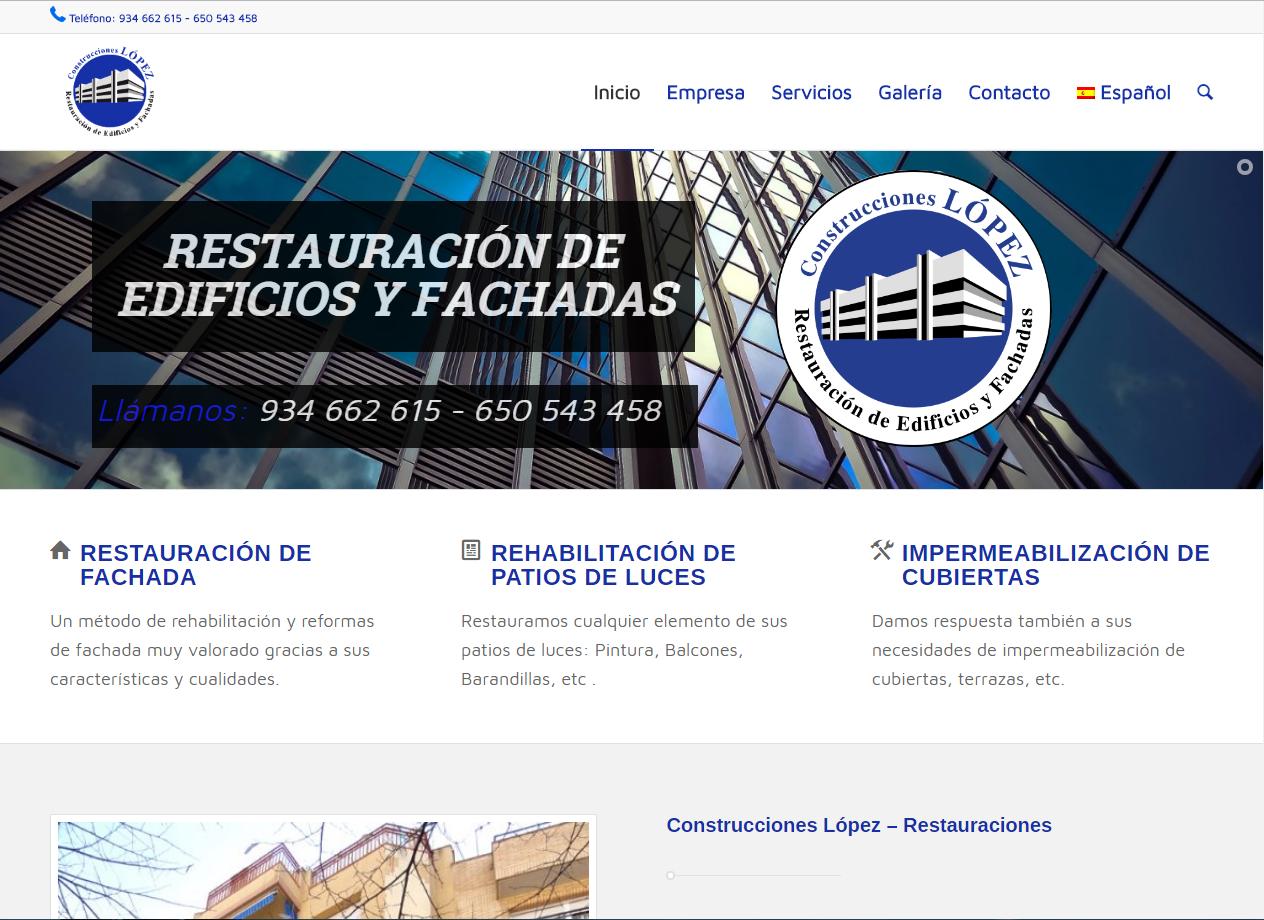 Web Construcciones Lopez