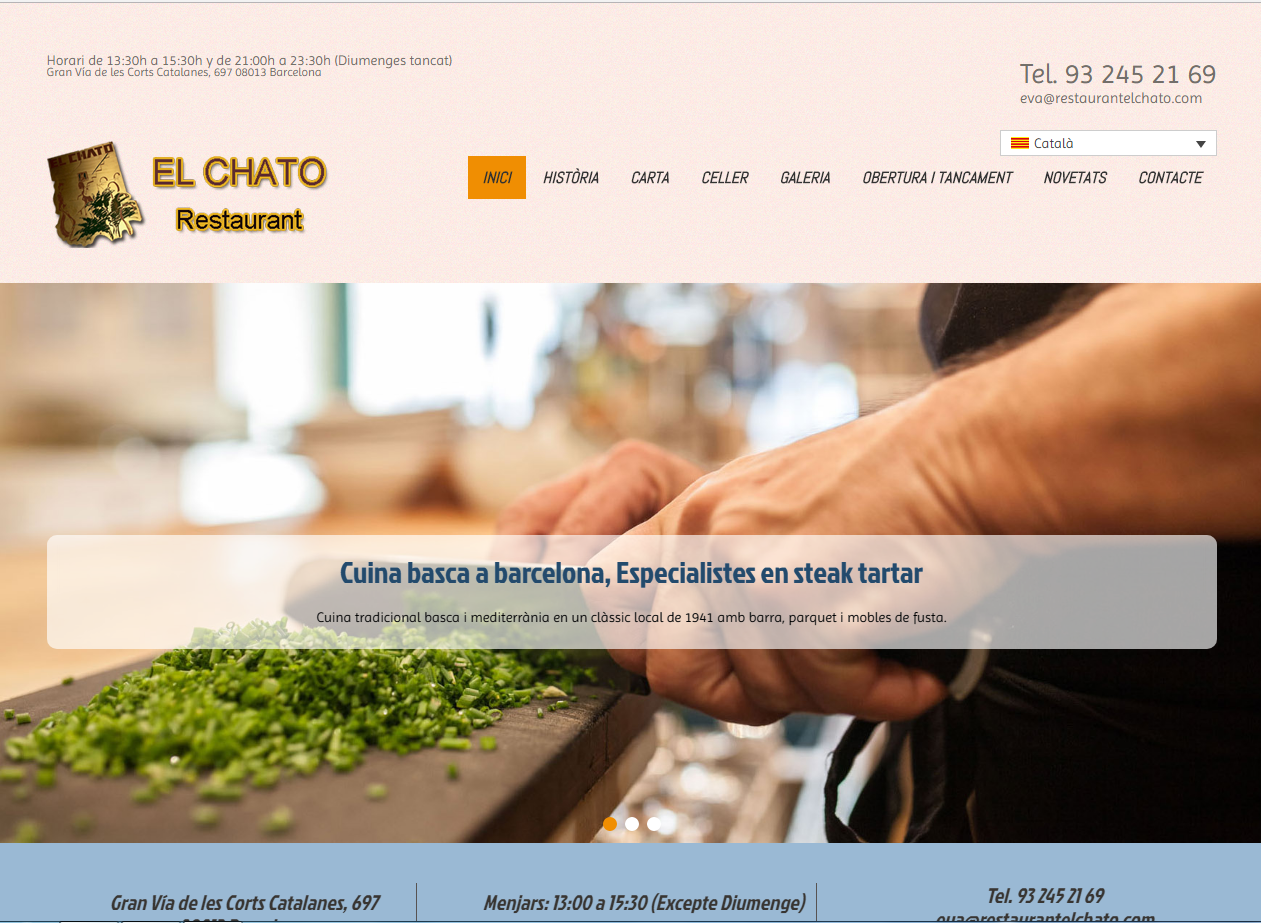 Web Restaurante El Chato