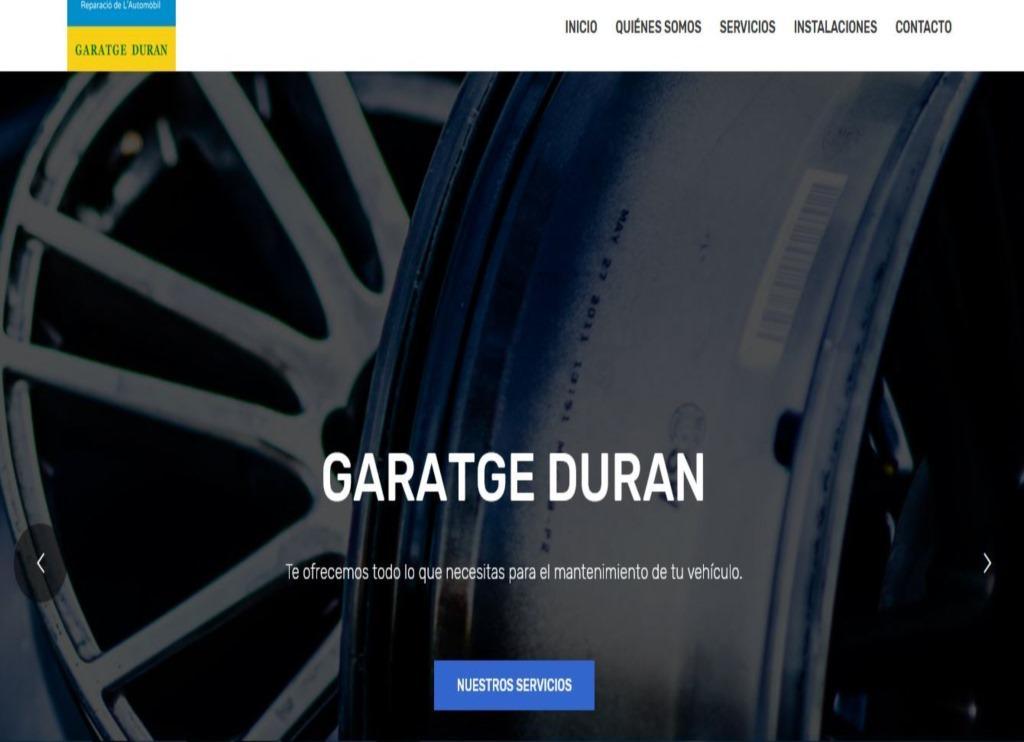 Web Garatge Duran
